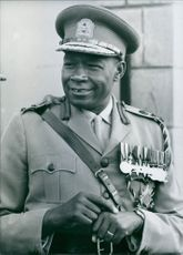 Major General Ndolo smiling in uniform. 1969.