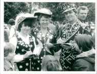 The pearly king, queen and princess of Yar daughter Linda.