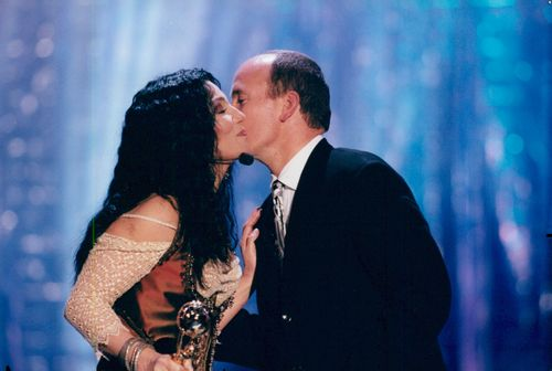 Cher receives award from Albert of Monaco during the World Music Awards
