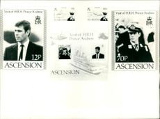 The Stamps featuring Prince Andrew.