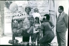Princess Alexia of Greece and Denmark while doing charity work. 1967