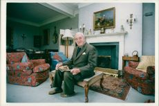 Viscount William Whitelaw at her home