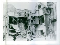 A destructed house after the bombardment during Denmark war.