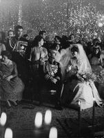 Mohammad Reza Pahlavi and Farah on their wedding day.