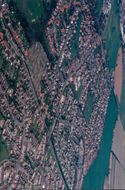 Aerial view of the city.
