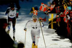 Skiing during the Winter Olympics in Lillehammer