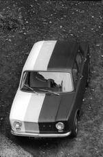 High angle view of car.