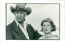 Jim Davis and Barbara Bel Geddes in Dallas