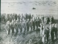 U.S. Artillerymen Decorated in Tunisia The headquarters company of a U.S. artillery battalion receiving decorations and citations for bravery in the battle of EI Guettar Valley in Tunisia.