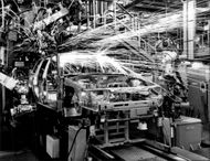 The production line for Opel Astra.