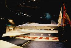 The unveiling of the American fighter plane F-22 Raptor