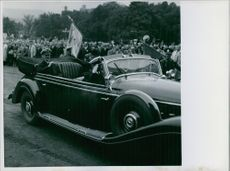 Princess Alexandra's royal vehicle during a parade.