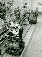 Women in the workshop at Saab-Scania