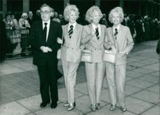 Billy Wright with Teddie, Joy and Babs.