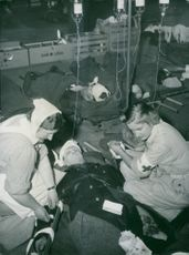 Treatment given to the patient in shelter.