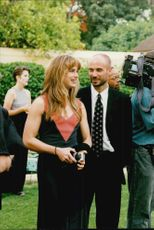 Andre Agassi with his wife Brooke Shields at a dinner organized by Nelson Mandela in Somerset West after the Nelson Mandela Tribute Tournament