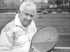The tennis veteran Torsten Johansson portrait