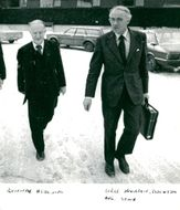 Gunnar Hedlund, Center Party Leader with Sigge Hansson