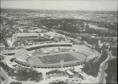Picture of the Olympic Stadium taken from helicopter