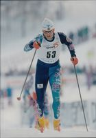 Ski World Cup in Vuokatti. Lubos Buchta from the Czech Republic in the track