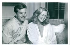 """A photo of Dennis Quaid and Kathleen Turner in the film """"Undercover Blues"""". 1993."""