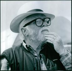 Director Richard Attenborough on the set of his film, In Love and War.