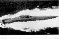 Soviet submarine of the Victor class in the Japanese Sea