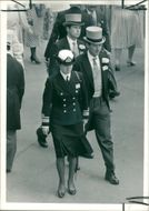 Princess Anne wearing the uniform of Chief Commandant of the Women's royal Naval Service.