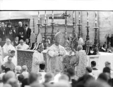 Pope Paul VI performing catholic rituals.