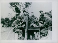 With the British troops in France.