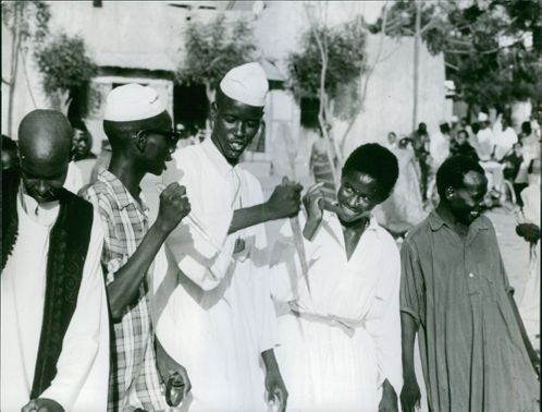 Chad AFRICAN PEOPLE CELEBRATE A FESTIVAL  9 sep 1963