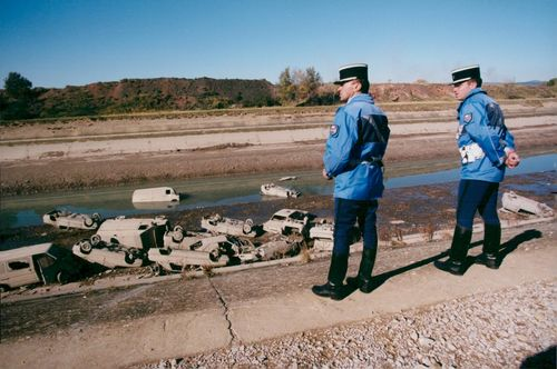 360 cars were found when the Durance Canal in southern France was emptied