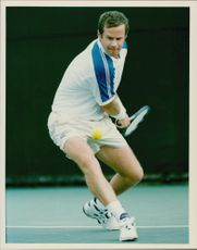 Tennis player Patrick McEnroe in action, 1994.