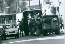 Officers evacuating the citizens of Lebanon.