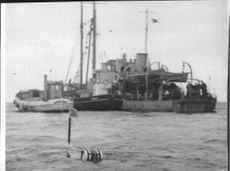Delayed recovery work because of the stormy weather of the wrecked aircraft Torlak Viking