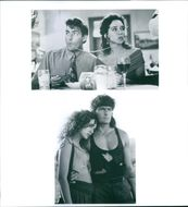 Charlie Sheen and Valeria Golino from the film