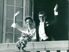 Princess Christina and Tord Magnusson, newly married