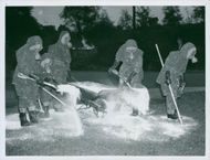 Air Protection Exercise of General Motors. One of cleaning up patrols in action. Sweden 1938