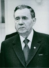Andrei Gromyko, Minnisterof Foreign Affairs since 1957. 1983.