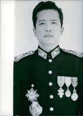 Portrait of Inpeng Suryadhay. Minister of Justice and acting; Minister of Planning, in thr Government Souvanna Phouma.