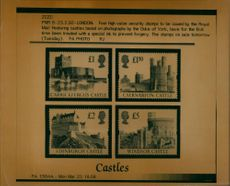 Four high Value Security Stamps.