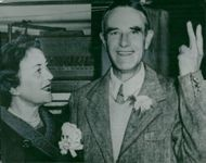 Averell Harriman, American Democrat, makes victory after the election results