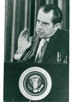 US President Richard Nixon acknowledges that he lied about Watergate