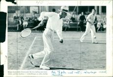 Mixed tennis pictures on King Gustaf V - print on paper