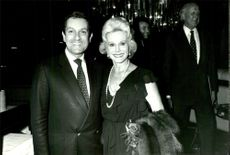 Portrait of actress Eva Gabor with her husband