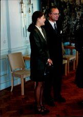 Crown Princess Victoria and King Carl XVI Gustaf at the opening of the Riksdag