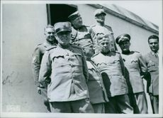 Serbian generals who had been captured and gathered to a detention center.