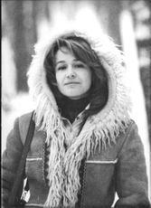 Marina Neyolova wearing a furry hood -jacket.