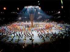 Opening ceremony at the Winter Olympics in Albertville 1992