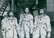 """Three Bulgarians chosen to take part in joint Soviet Bulgarian space mission """"Shipka"""" in February 1988"""